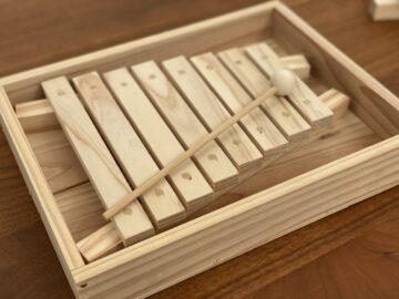 間伐材 木琴